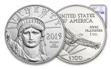 2019 $100 1-oz Platinum American Eagle NGC MS70 Early Releases
