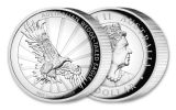 2019 Australia $1 1-oz Silver Wedge Tailed Eagle High Relief Proof