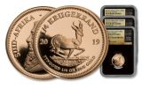 2019 South Africa Gold Krugerrand Mini Fractional 3-Piece Set NGC PF70UC First Day of Issue - Tumi Signed Label