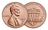 2019-S U.S. Silver Proof Set w/2019-W Reverse Proof Lincoln Cent