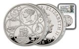 2019 Great Britain £5 Silver Queen Victoria 200th Anniversary Piedfort NGC PF70UC One of First 250 Struck - Tower Bridge Label