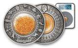 2019 Tuvalu $2 2-oz Silver Golden Treasures of Ancient Egypt Antiqued Coin NGC MS70