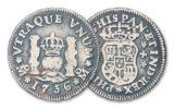 SPAIN 3PC 1734-1771 1/2-2 REALES COIN SET FINE