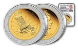 2019 Australia $150 1.5-oz Gold & Platinum Bi-Metal Wedge-Tailed Eagle Proof NGC PF70UC First Releases w/Mercanti Signature