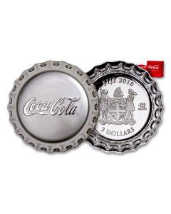 2018 Fiji 1 Ounce $2 Silver Coca-Cola Bottle Cap Proof