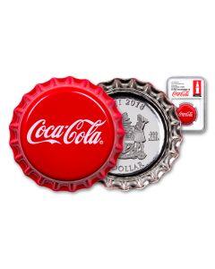 2018 Fiji Coca-Cola Bottle Cap 6-gm Colorized Silver NGC PF70UC Coke Bottle Label