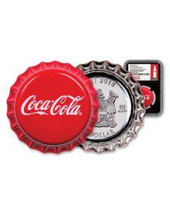 2018 Fiji Coca-Cola Bottle Cap 6 Grams $1 Silver Colorized NGC PF69 UC FDI Black Core