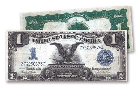 1899 1 Dollar Silver Certificate Black Eagle VF | GovMint.com