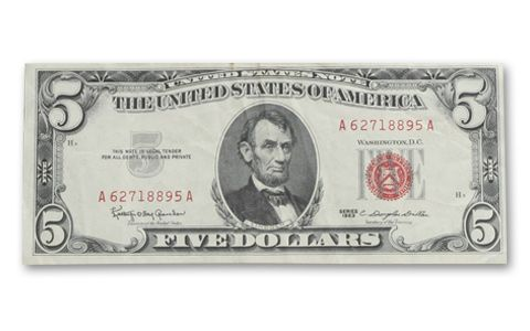 2 and 5 Dollar Red Seal Notes with Silver Certificate | GovMint.com