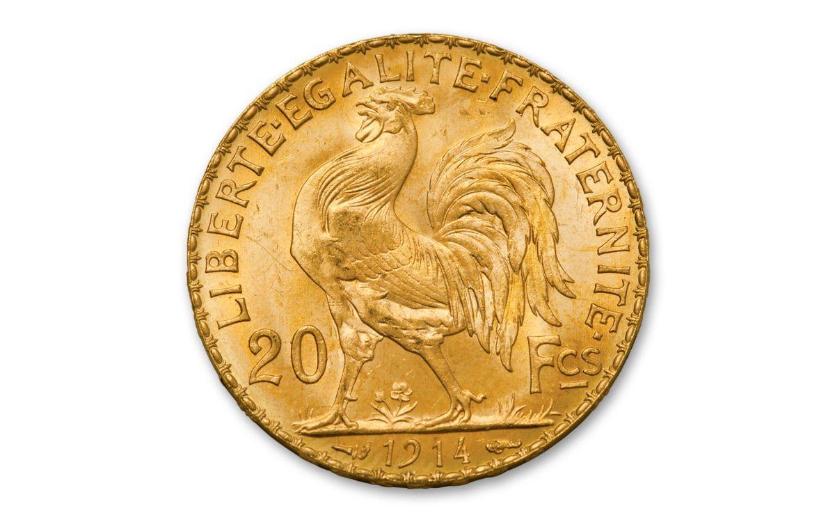 1899 1914 France 20 Francs Rooster Bu