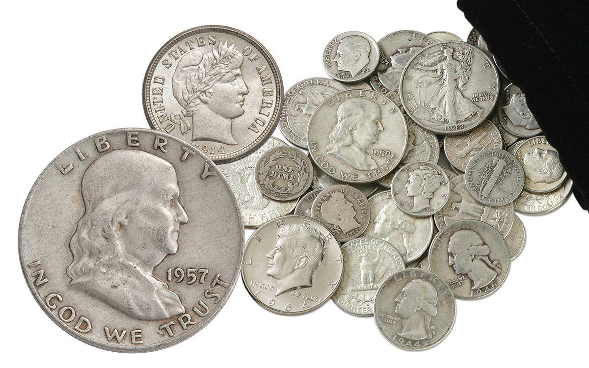 1892 1964 U S Silver Coins 1 4 Pound Bag