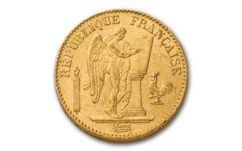 1878 1898 20 Francs Gold Angel Bu