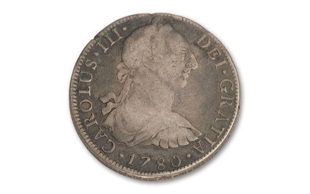 1775 1783 Spain 8 Reales Revolutionary War VG F