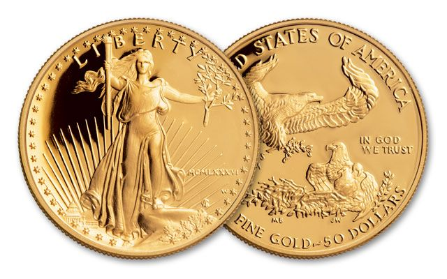 1986 50 Dollar 1 Oz Gold Eagle Proof Govmint Com