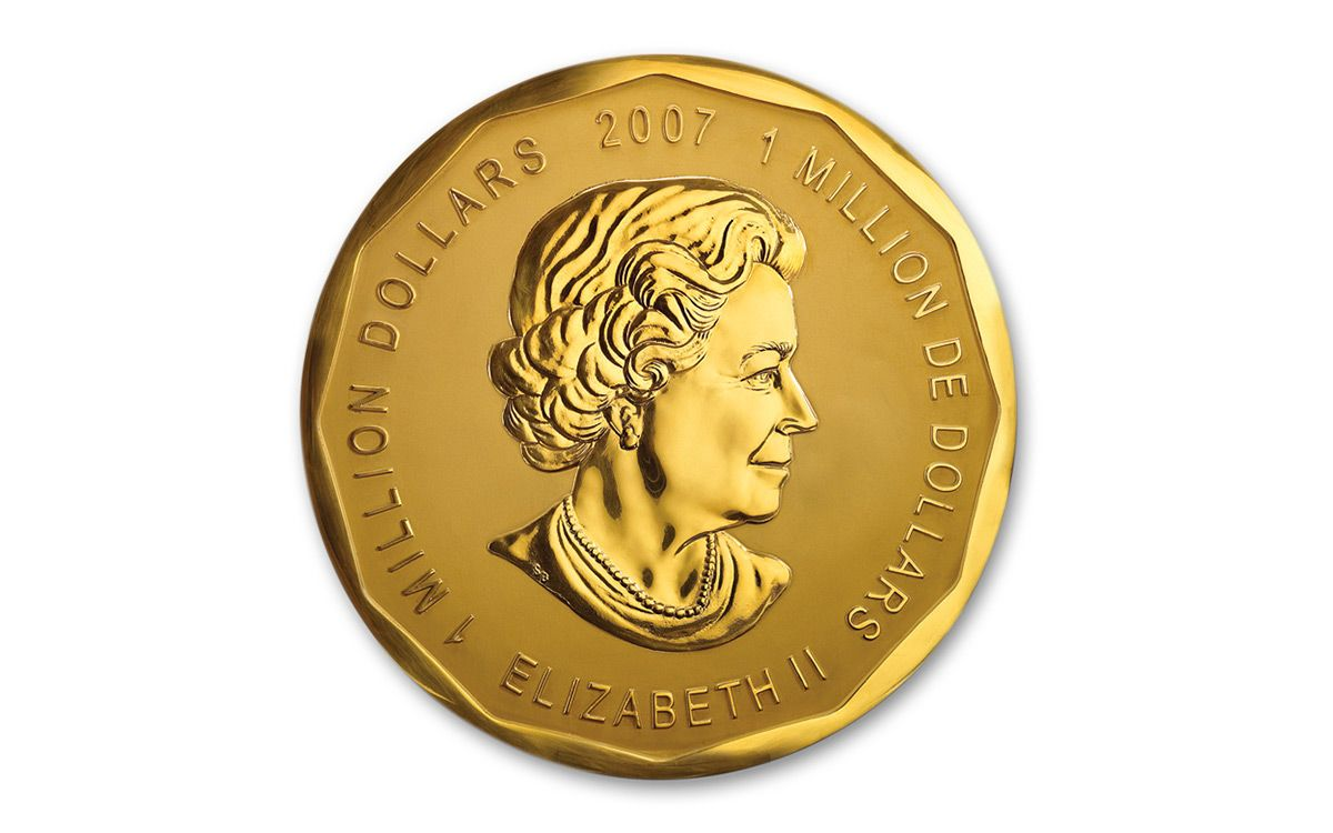 2007 Canada 1 Million 100 Kilo Gold Maple Leaf Govmint Com