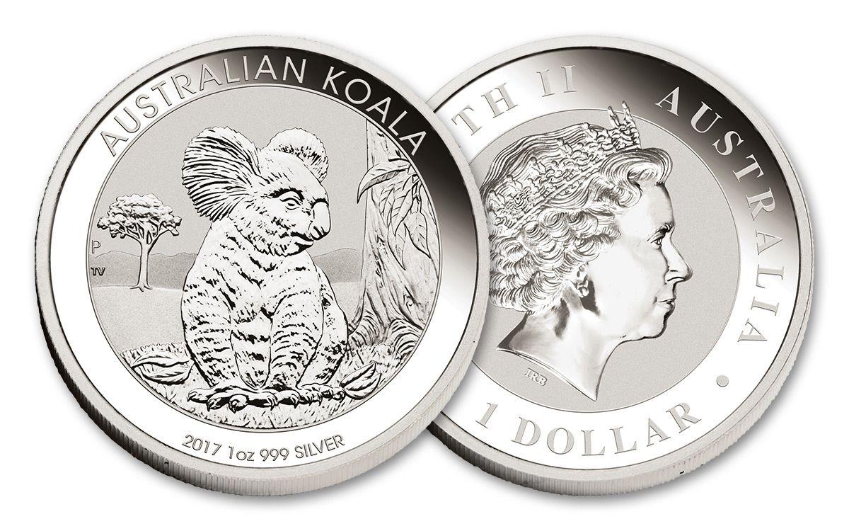 2017 Australia 1 Dollar Oz Silver Koala Bu