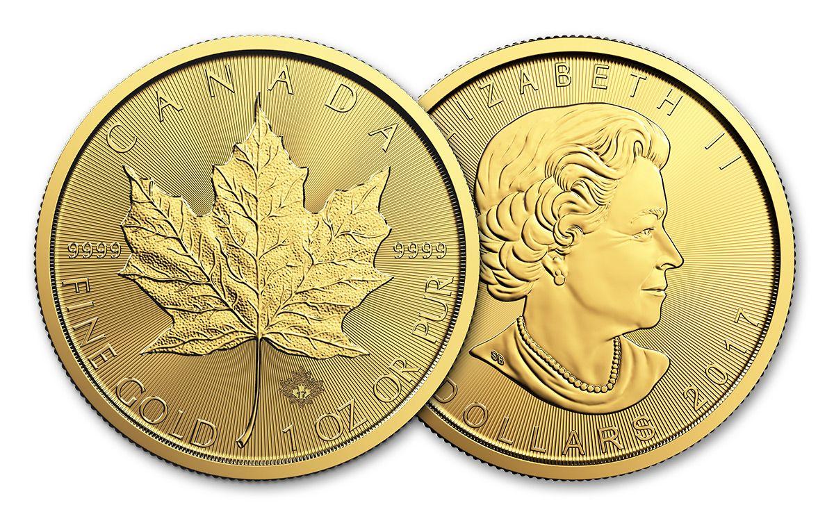2017 Canada 50 Dollar 1 Oz Gold Maple Leaf Bu
