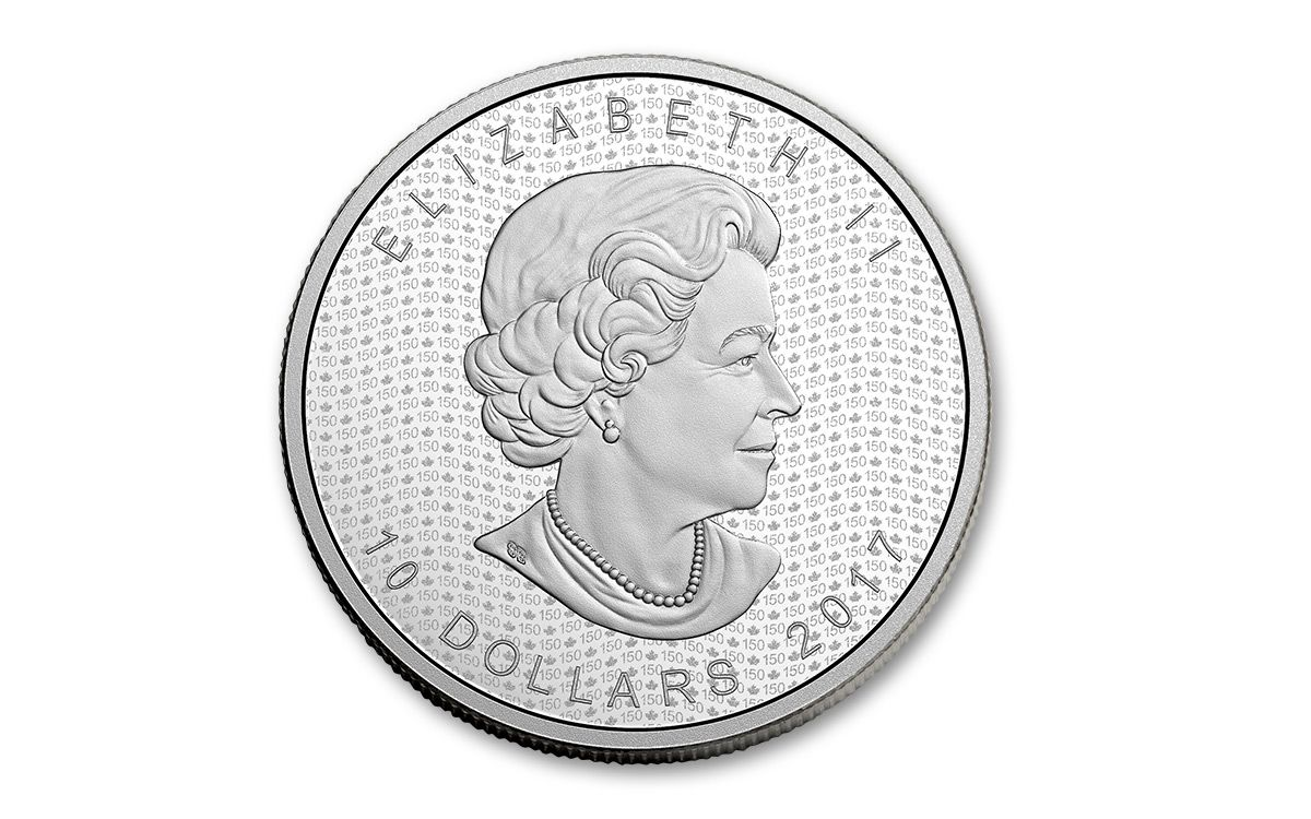 2017 Canada 10 Dollar 2 Oz Silver Maple Leaf Matte Proof