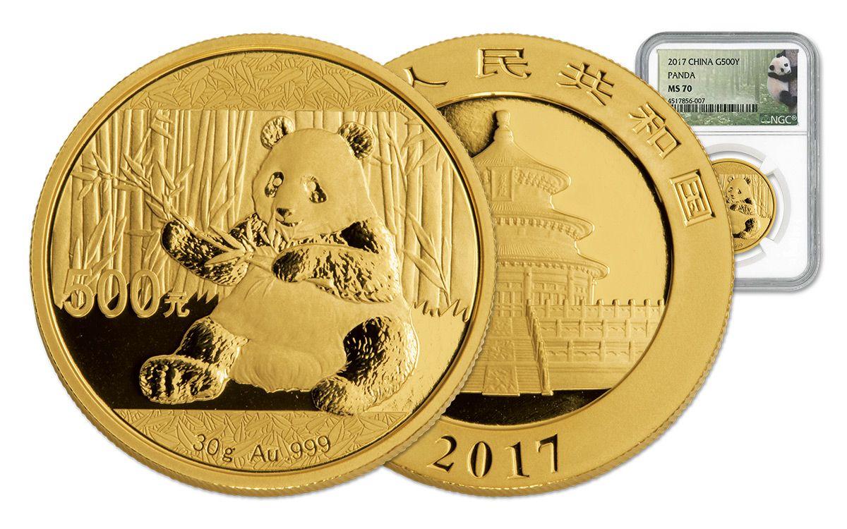 2017 China 30 Gram Gold Panda Ngc Ms70