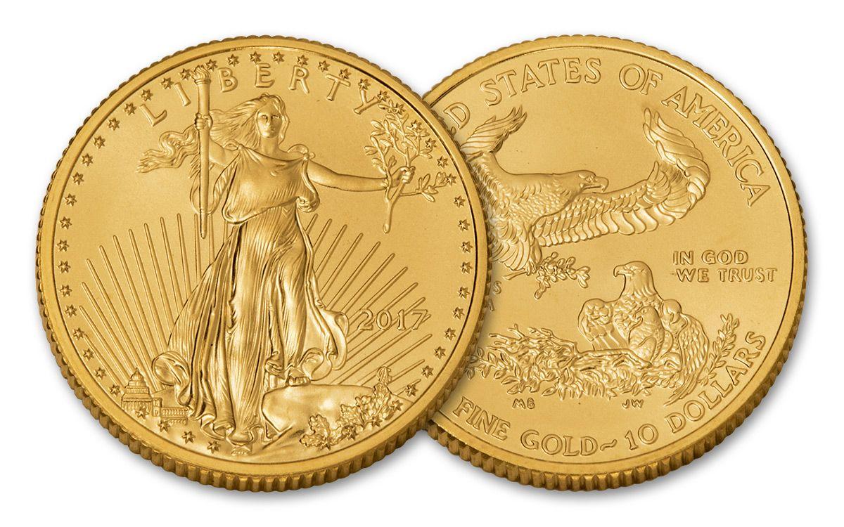 2017 10 Dollar 1 4 Oz Gold Eagle Bu