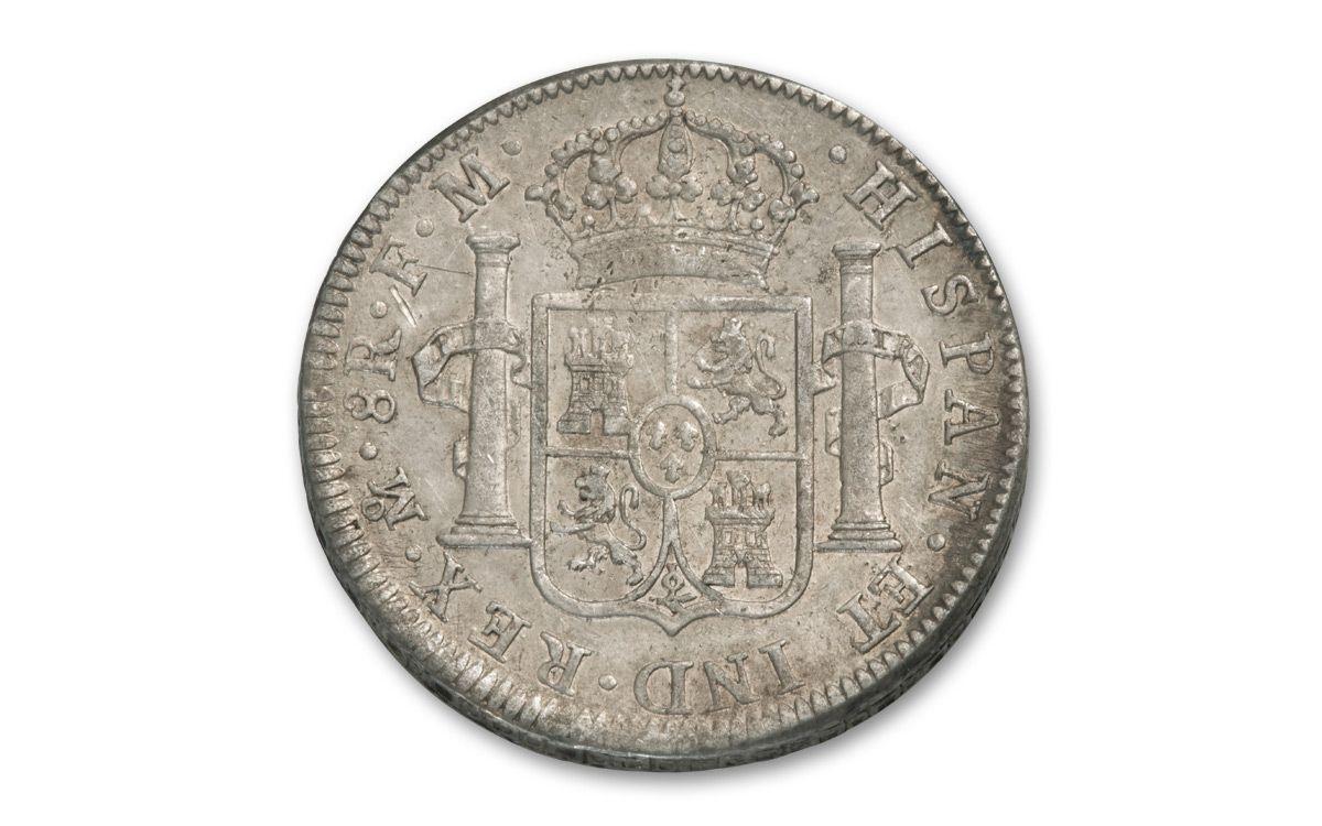 1789 1797 Spain 8 Reales Silver Fine George Washington