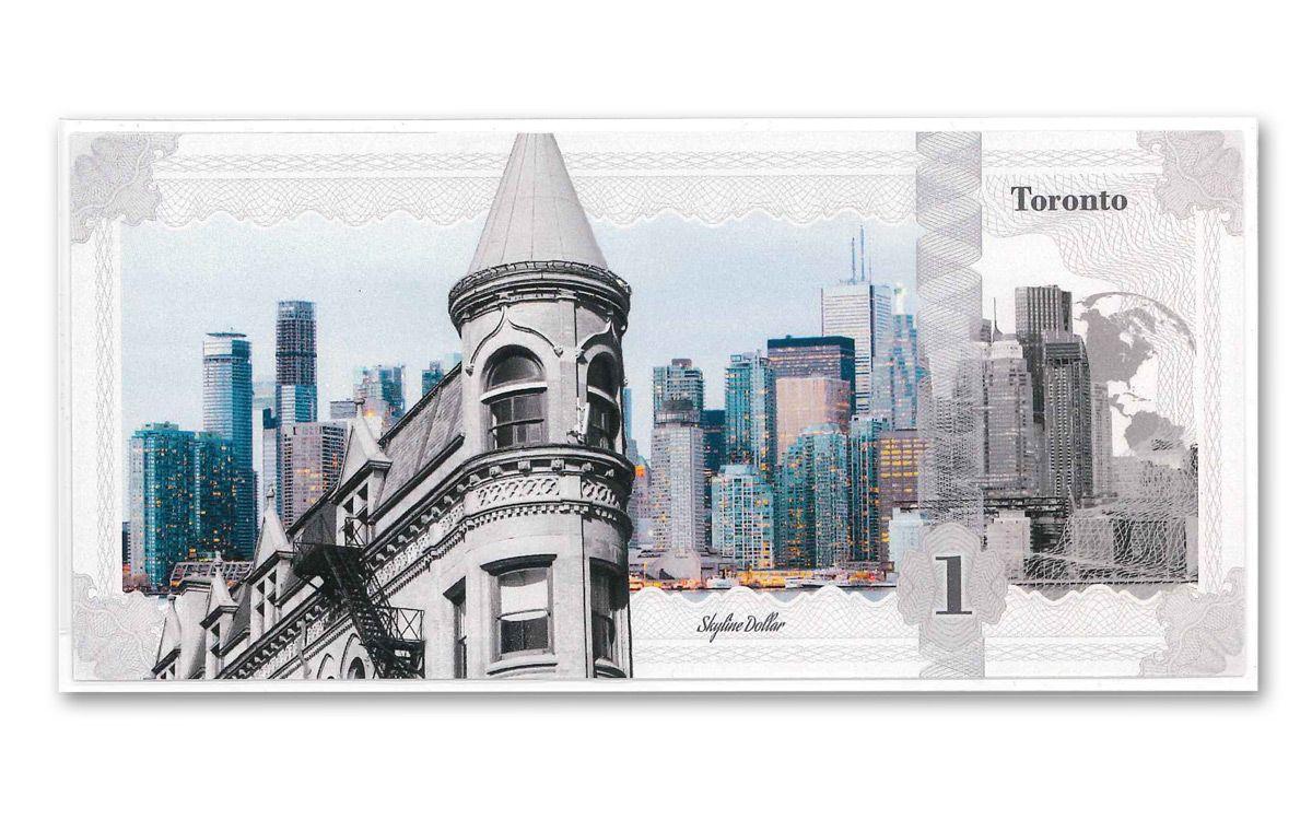 2017 Ck 5 Grams Silver Toronto Skyline Dollar Note