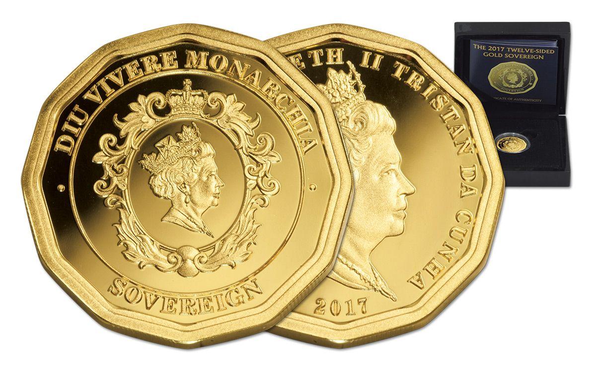 2017 tdc 1 4 oz gold 12 sided sovereign proof govmint com