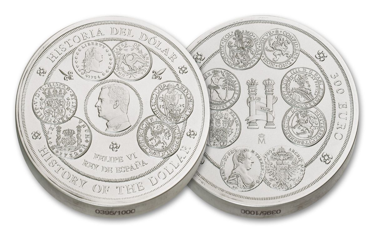 2017 Spain Kilo Silver History Of The Dollar Proof