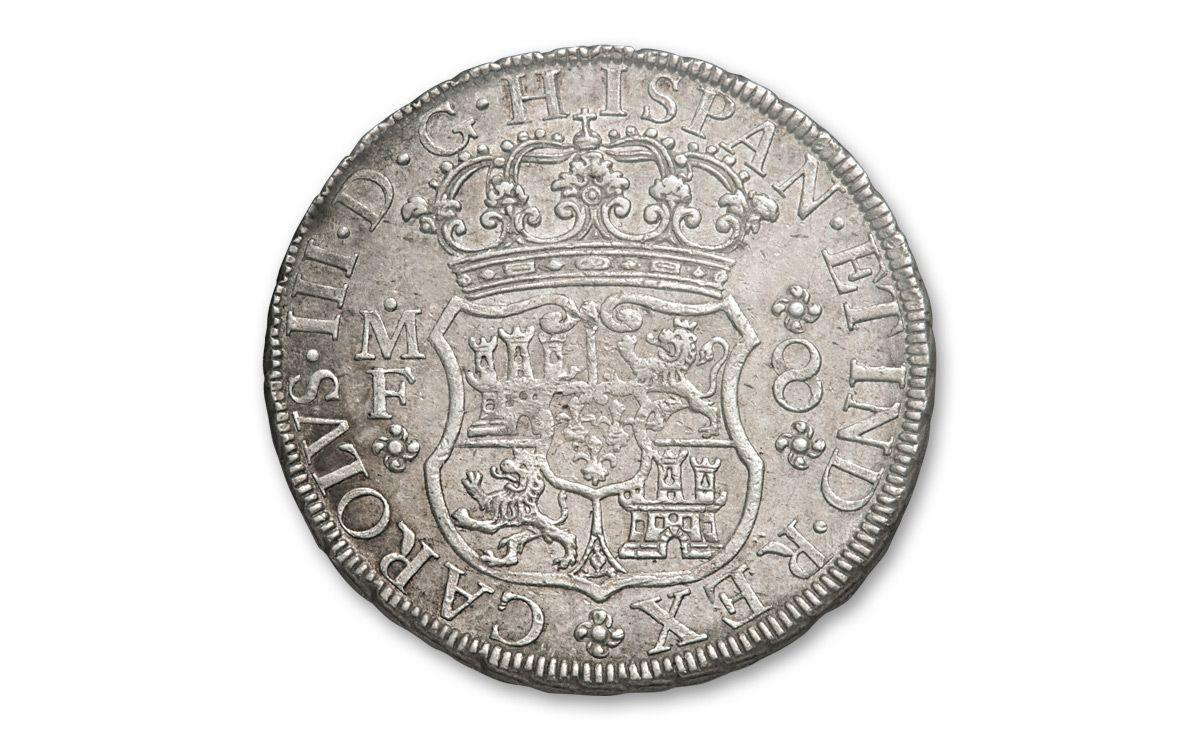 1735 1771 Spain 8 Reales Silver Pillar NGC AU