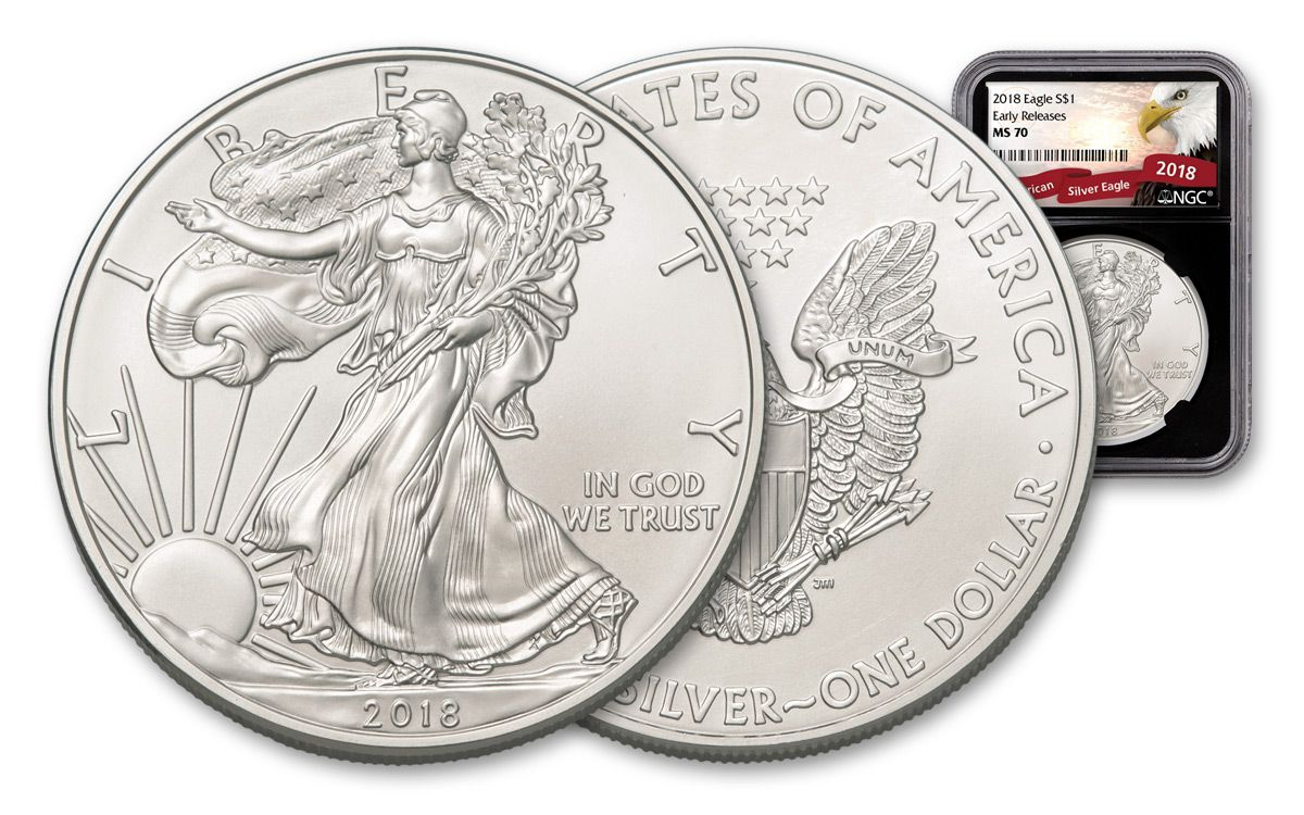 2018 American Silver Eagle Ngc Ms70 Er