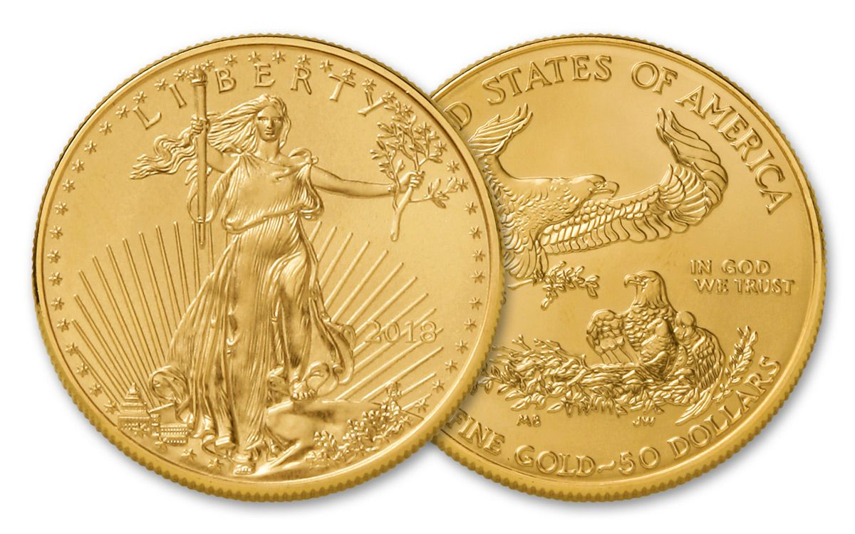 2018 50 Dollar 1 Oz Gold Eagle Bu
