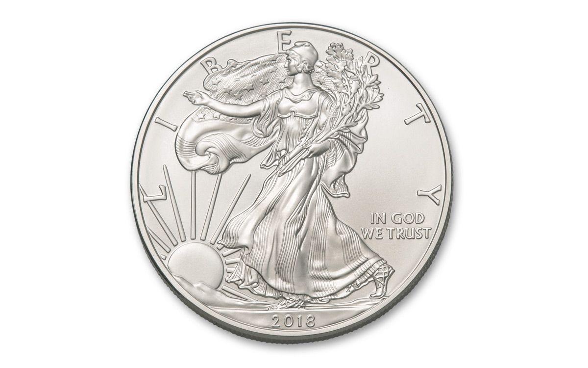 2018 Us 1 Dollar 1 Oz American Silver Eagle Bullion Coin