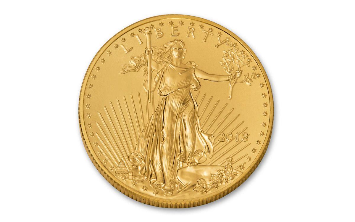 2018 US 25 Dollar 1 2 Oz American Gold Eagle Bullion Coin BU