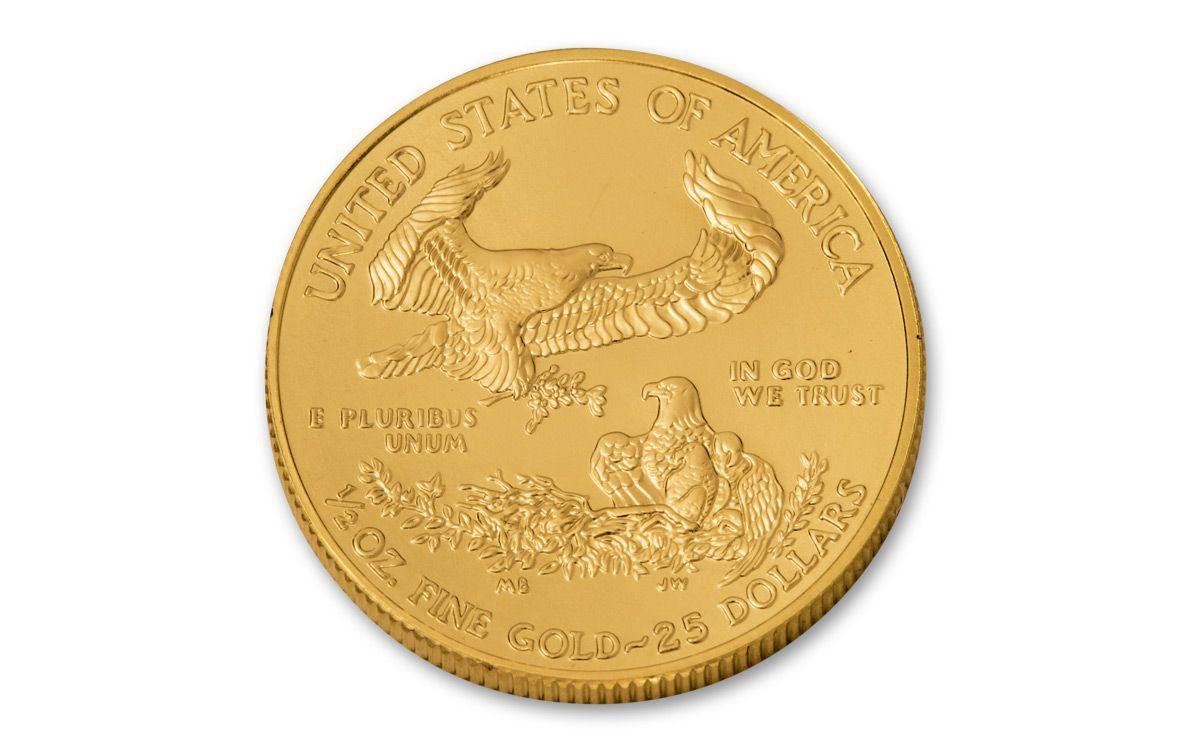 2018 25 Dollar 1 2 Oz Gold Eagle Bu