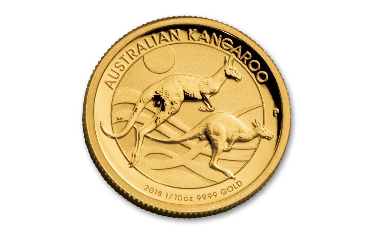 2018 Australia 15 Dollar 1 10 Oz Gold Kangaroo Brilliant Uncirculated