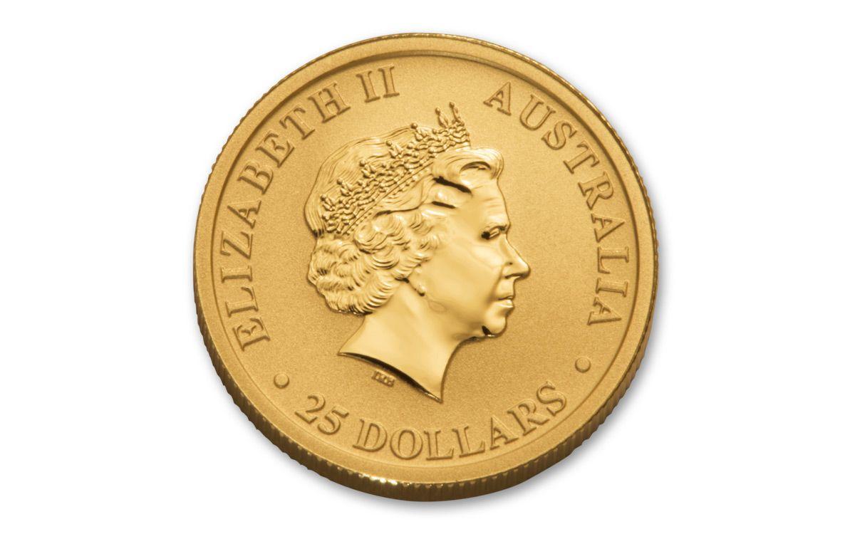 2018 Australia 1 4 Oz Gold Kangaroo Bullion Coin BU
