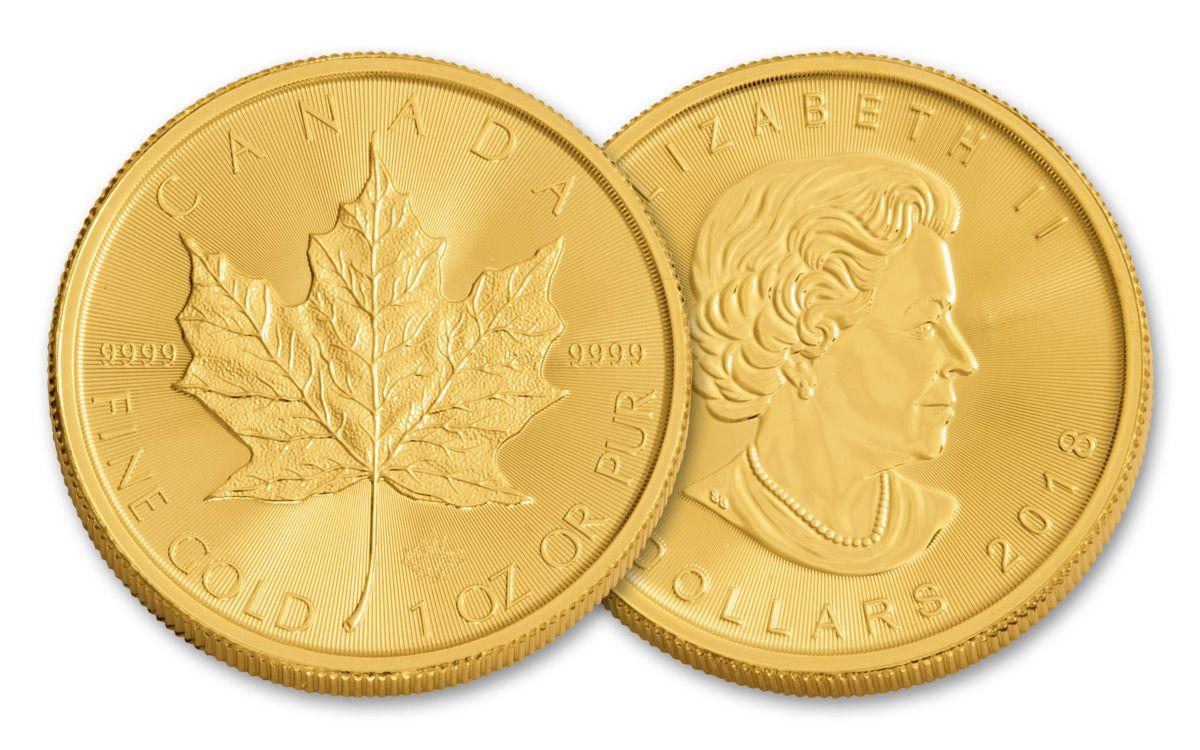 2018 Canada 1 Oz Gold Maple Leaf Brilliant Unicrculated