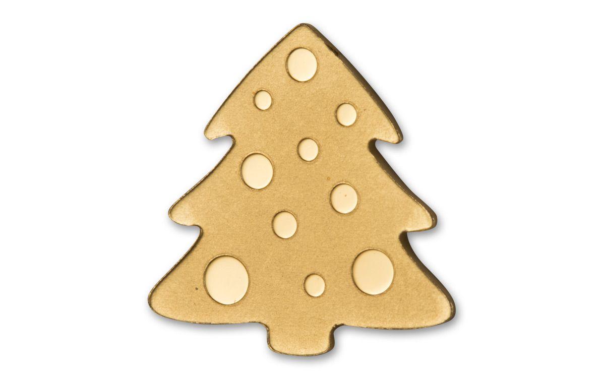 palau 1 dollar 12 gram golden christmas tree brilliant uncirculated - Golden Christmas 2