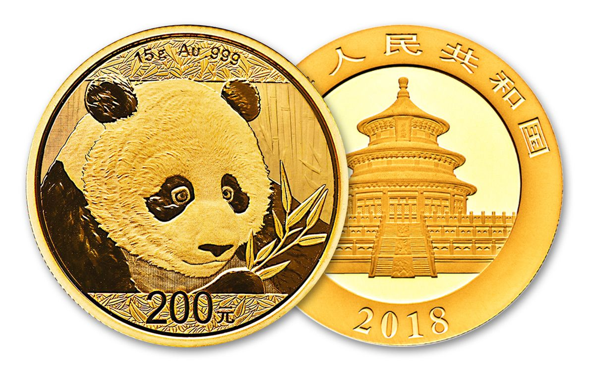 2018 China 200 Yuan 15 Gram Gold Panda Coin Bu Govmint Com