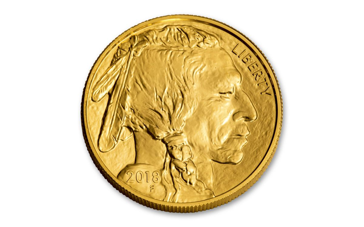 2018 50 Dollar 1 Oz Gold Buffalo Bu