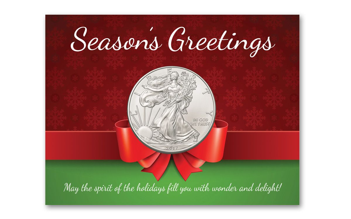 2017 1 dollar 1 oz silver eagle bu seasons greetings govmint 2017 1 dollar 1 oz silver eagle bu seasons greetings m4hsunfo