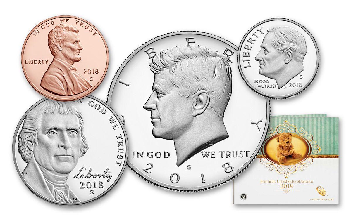 2018 us mint five coin proof birth set govmint com