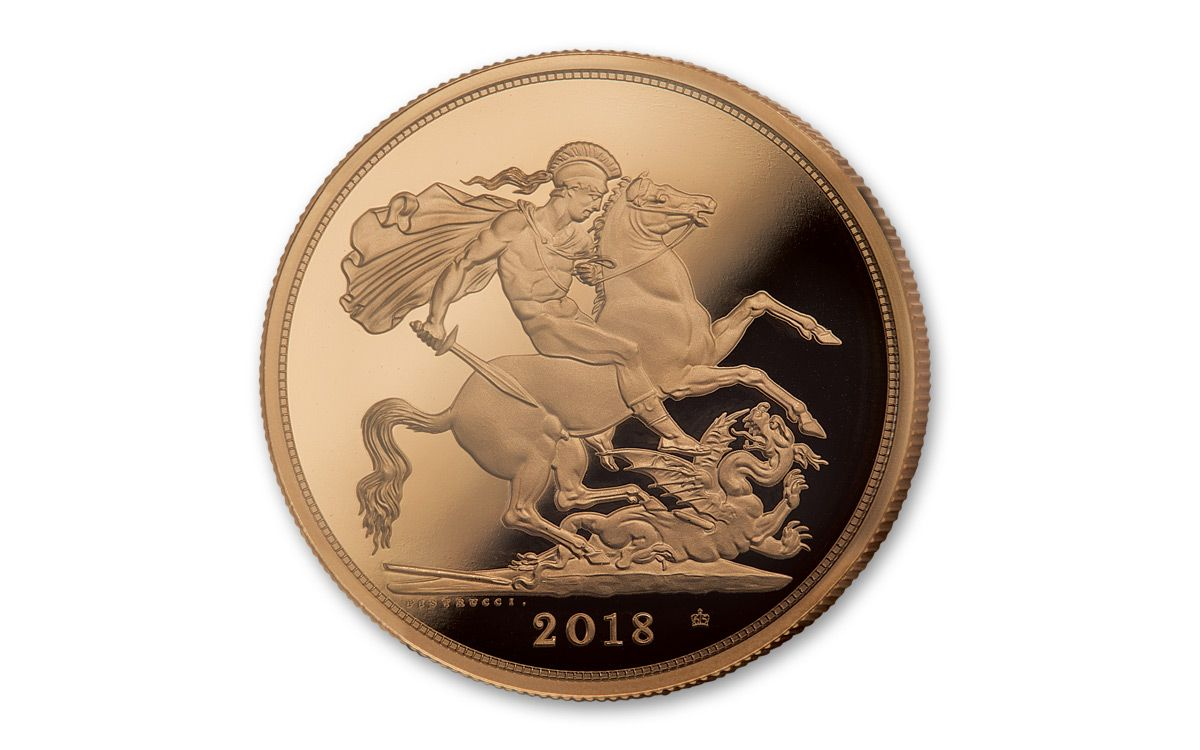 2018 Great Britain 1 Pound Gold Sovereign Set Ngc Pf70ucam First Struck
