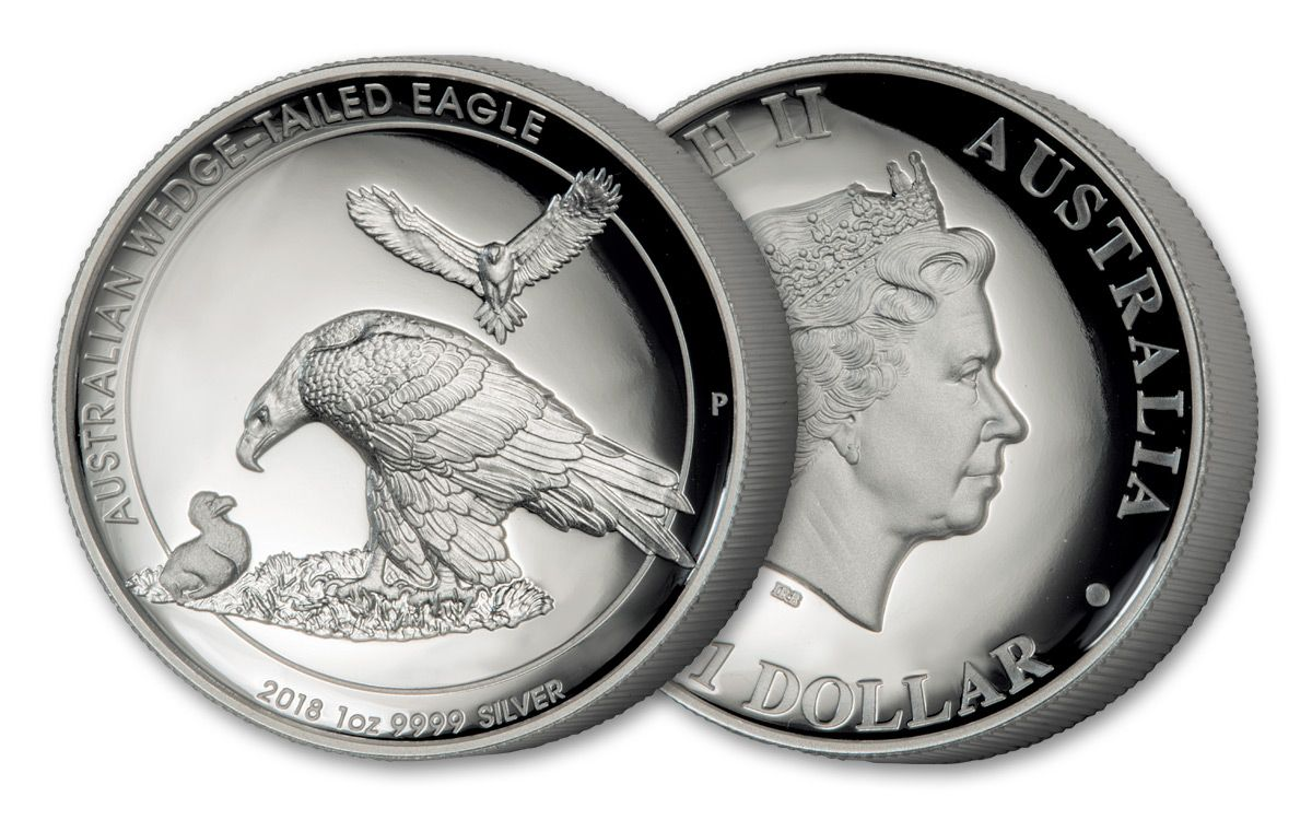 2018 Australia 1 Dollar Oz Silver Wedge Tailed Eagle High Relief Proof