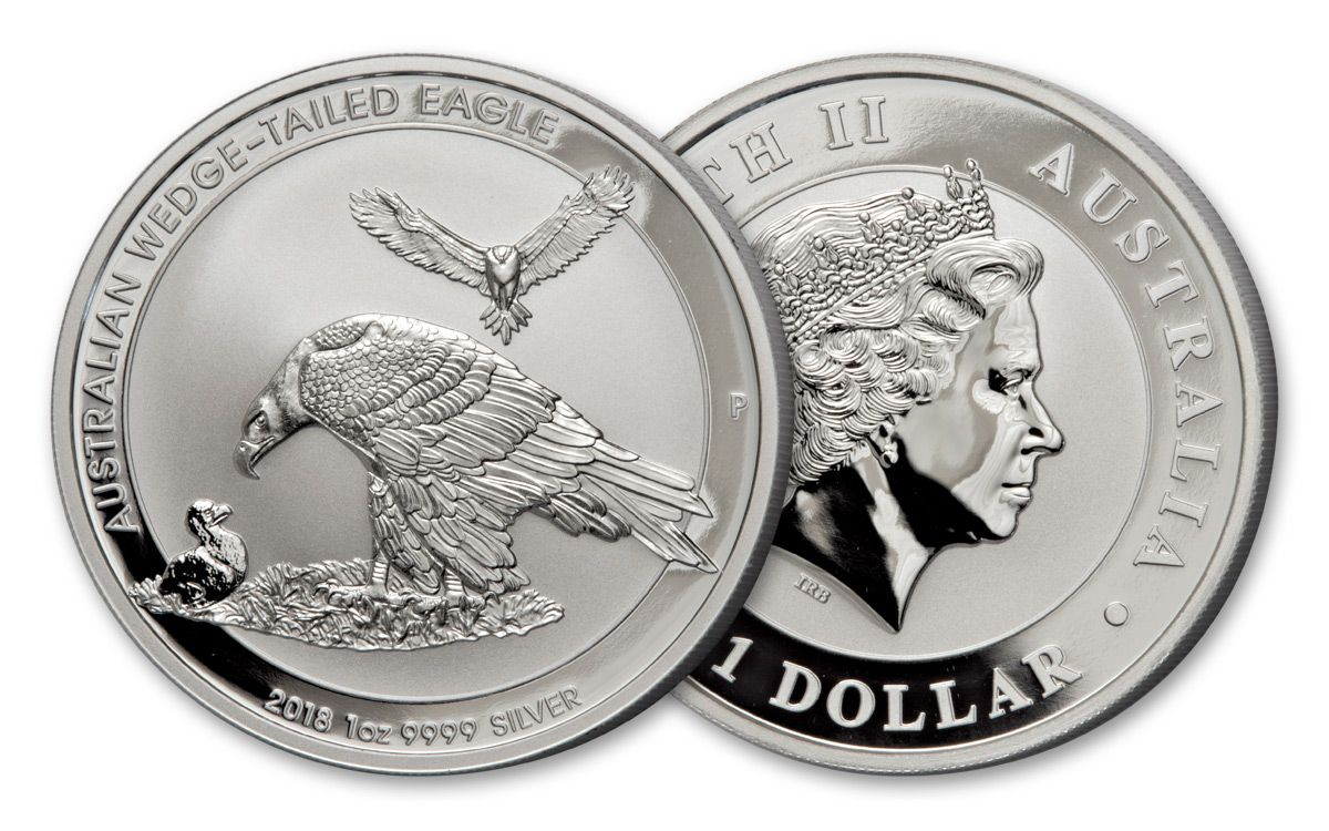 2018 Australia 1 Dollar Oz Silver Wedge Tailed Eagle Uncirculated