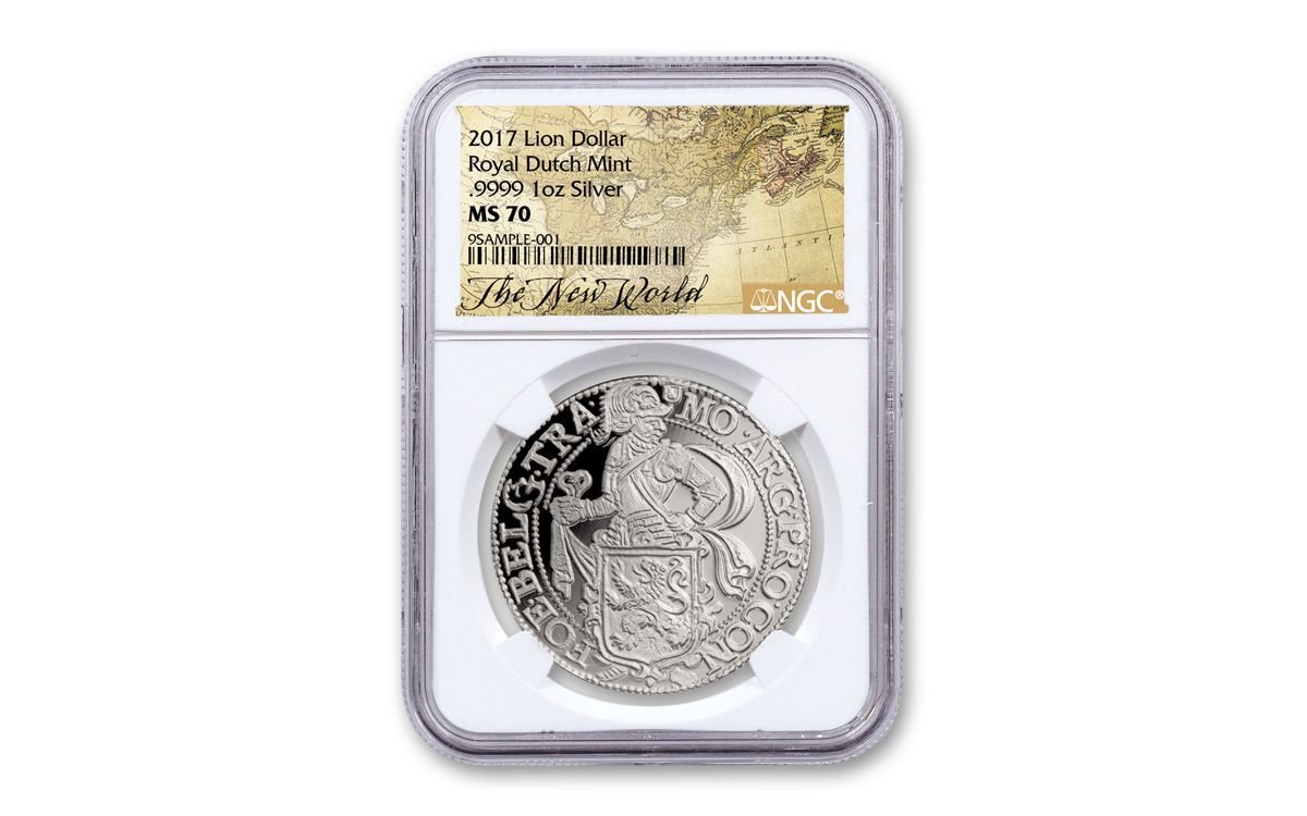2017 Nl Silver Ny Lion Dollar Ngc Ms70 Map Label Govmint