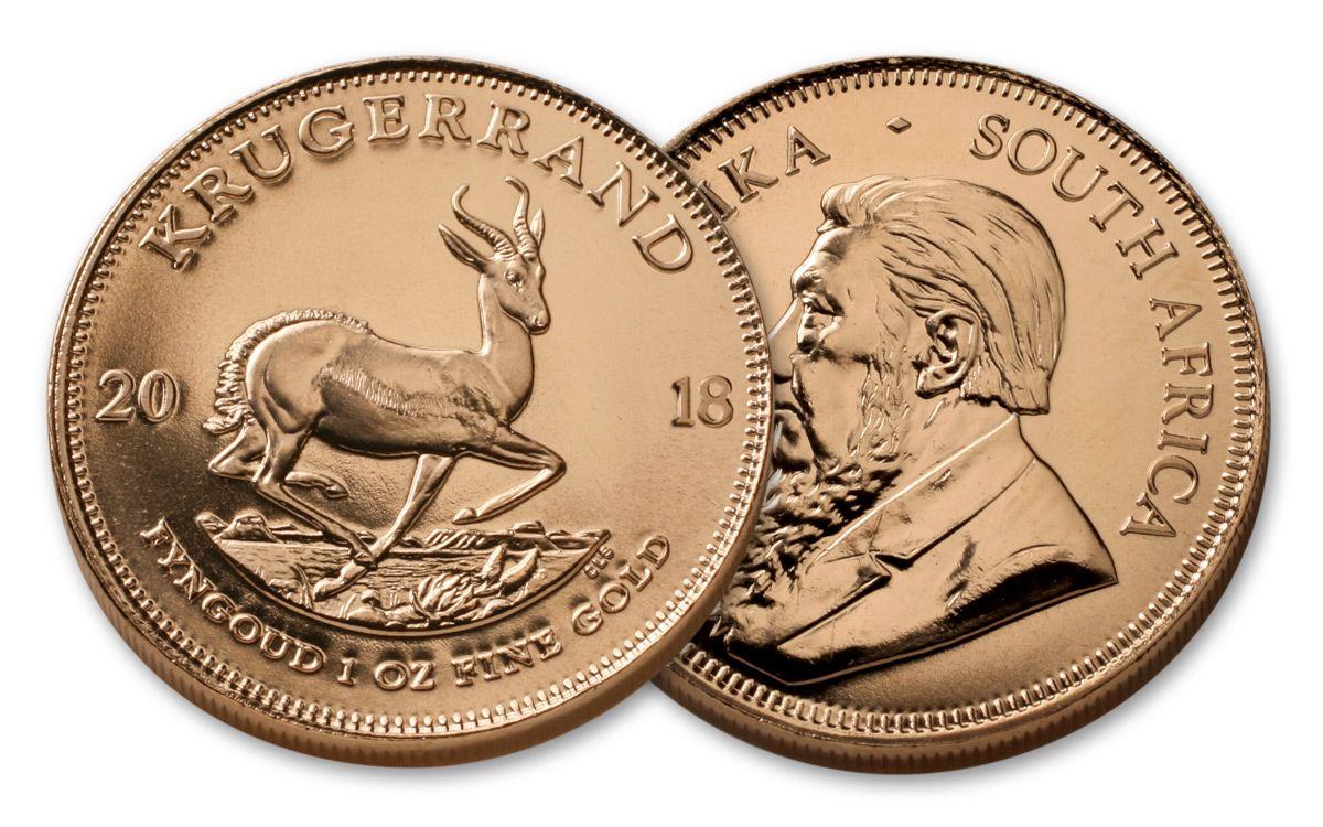 2018 1 Oz Gold Krugerrand Brilliant Uncirculated