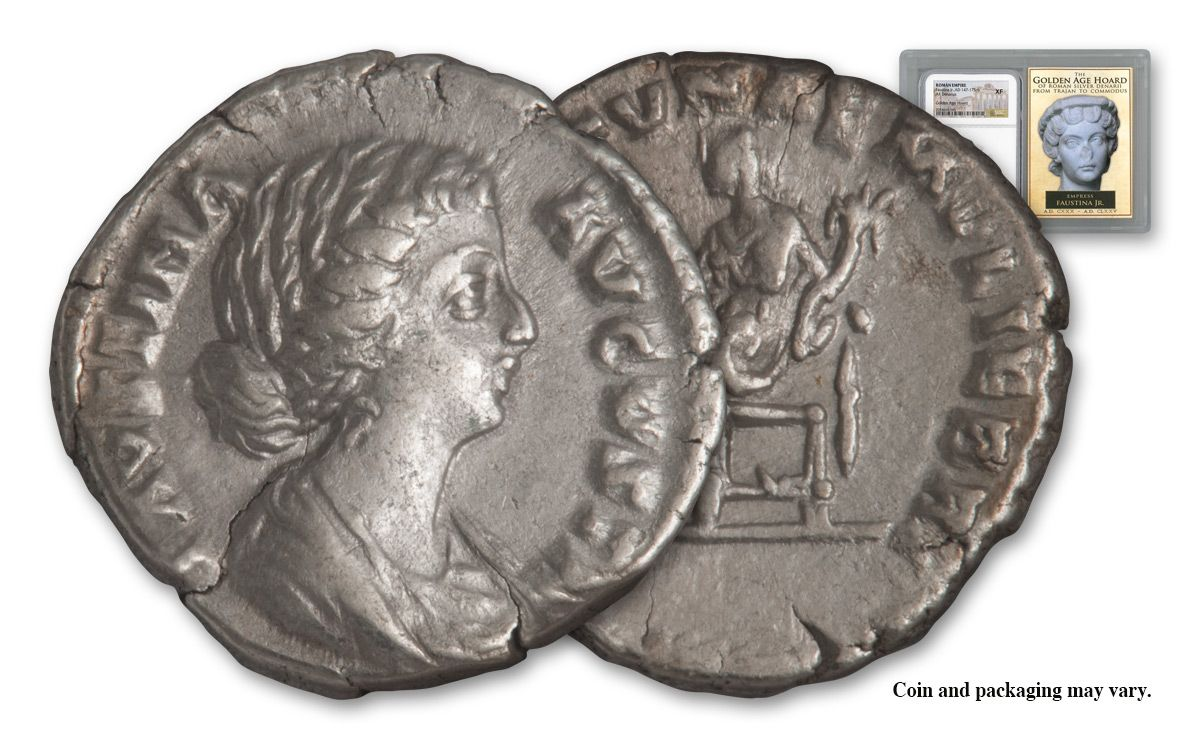A D 147 175 6 Ancient Roman Empire Silver Denarius Of Faustina Jr Golden Age Ngc Vf