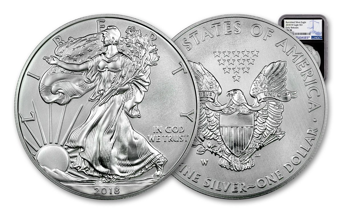 Ms 70 Silver Eagle New 2018 P T Cancer Awareness Mem Dollar Ngc Ms70 Er