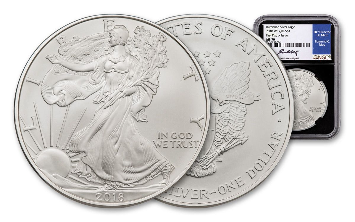 2018 Silver Eagle Ms 70 Early Releases Ngc